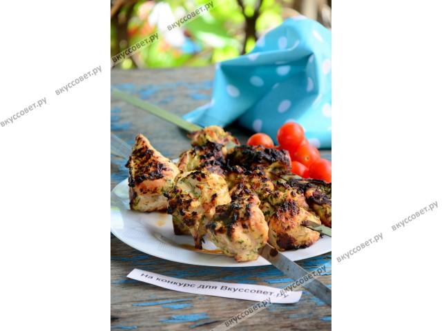 рецепт шашлыка из курицы в духовке видео