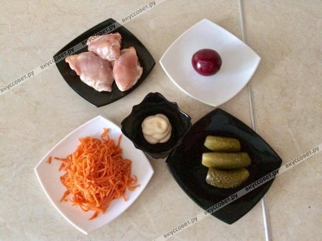 Ингредиенты к рецепту ШАШЛЫЧНЫЙ САЛАТ `МАРИНА`