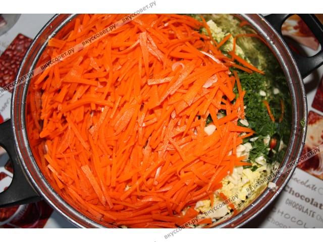 Рецепты карейских салатов для роздничной продажи