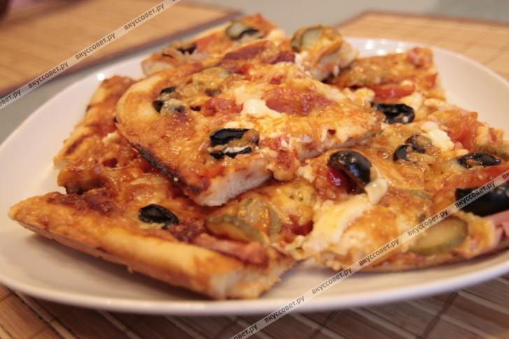 пицца рецепт пошаговый с фото
