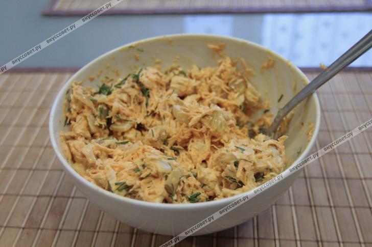 грибная поляна с лисичками салат рецепт с фото