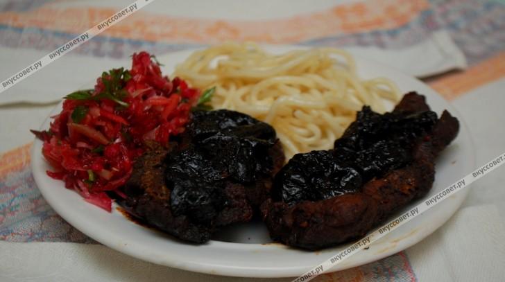 баранина с черносливом в духовке рецепт с фото