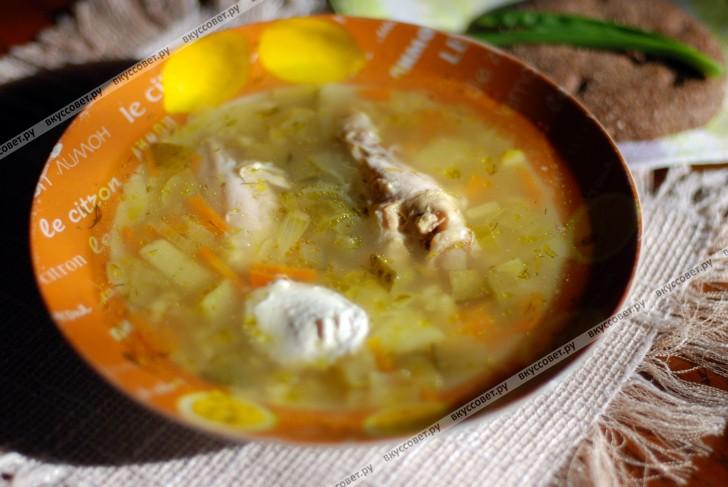 Рассольник с курицей рецепт с фото пошагово