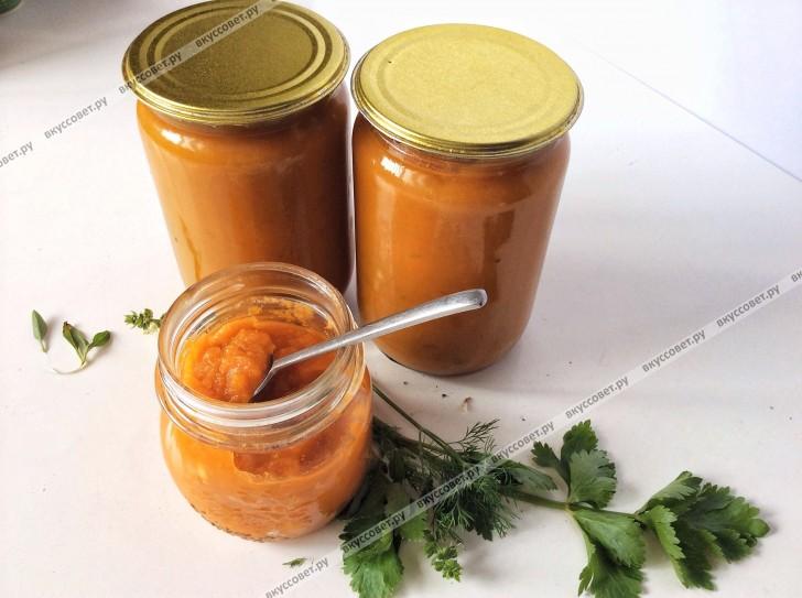 Кабачковая икра с морковью и томатной пастой на зиму (по бабушкиному рецепту) пошаговый рецепт с фото