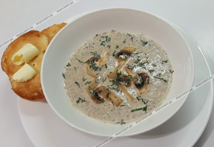 сливочный крем суп из шампиньонов рецепт с фото