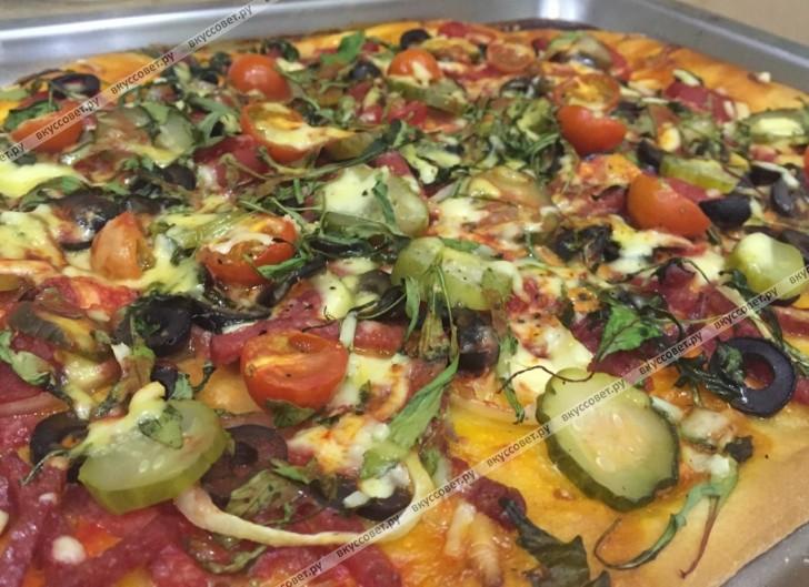 дрожжевая пицца рецепт в домашних условиях