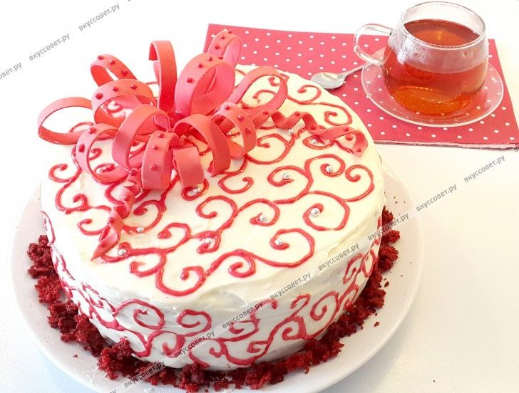 Торт `Красный бархат` пошаговый рецепт с фото
