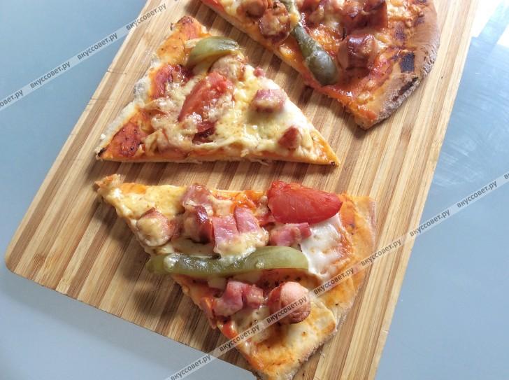 Вкусное тесто на пиццу пошаговый рецепт с