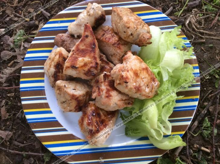 Шашлык из свинины в уксусе пошаговый рецепт с фото