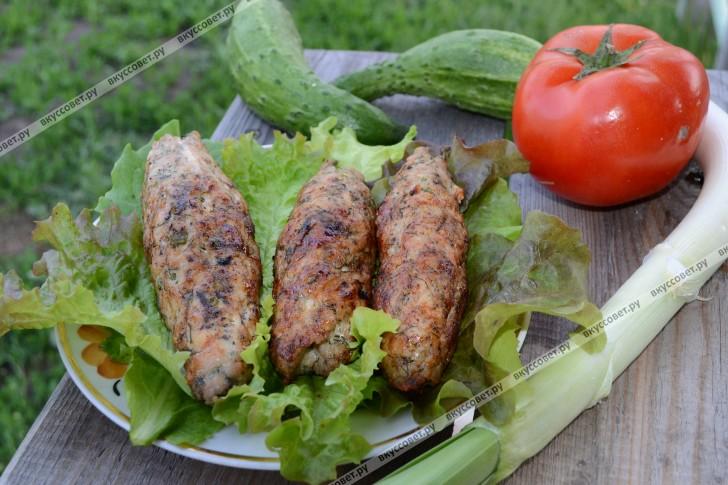 Люля-кебаб из свинины пошаговый рецепт с фото