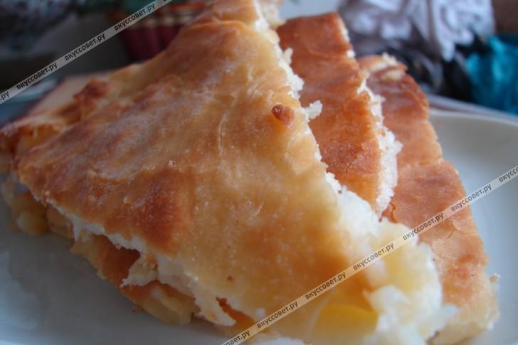 Осетинский пирог с сыром и картофелем пошаговый рецепт с фото