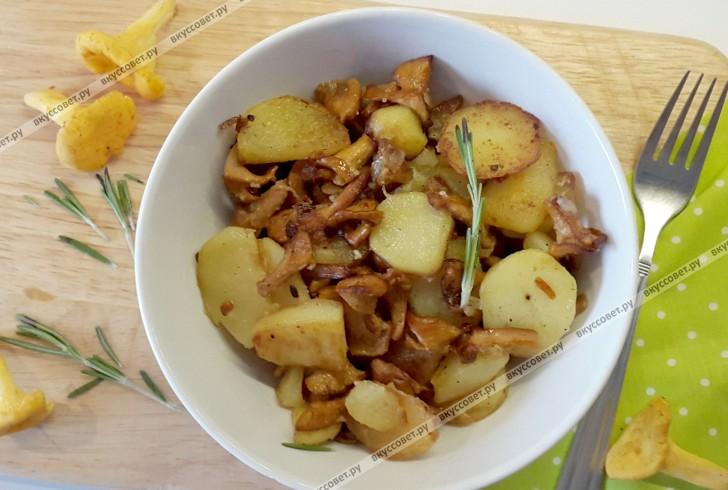 Картошка с лисичками пошаговый рецепт с фото