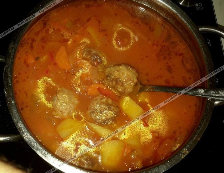 Суп с тефтелями пошаговый рецепт с фото