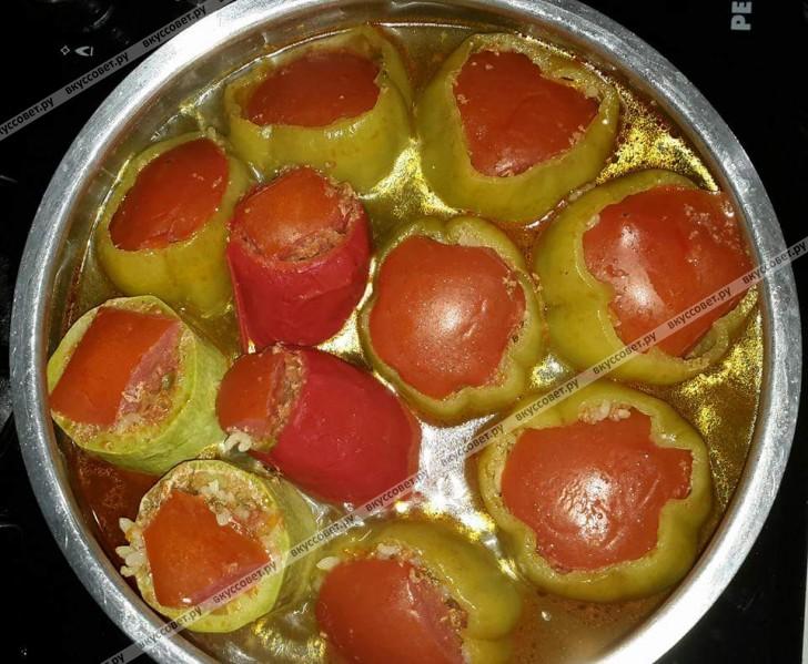 перец фаршированный запеченные в духовке рецепт с фото