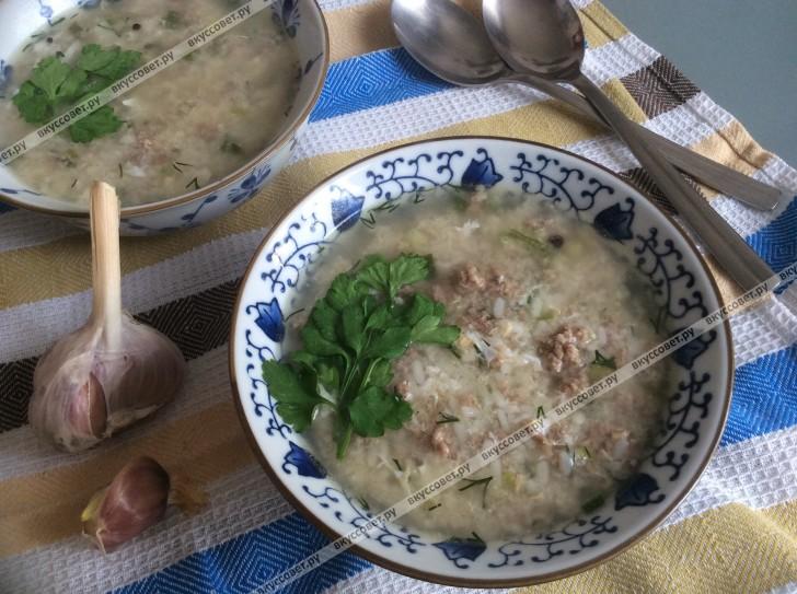 Суп с рисом пошаговый рецепт с фото