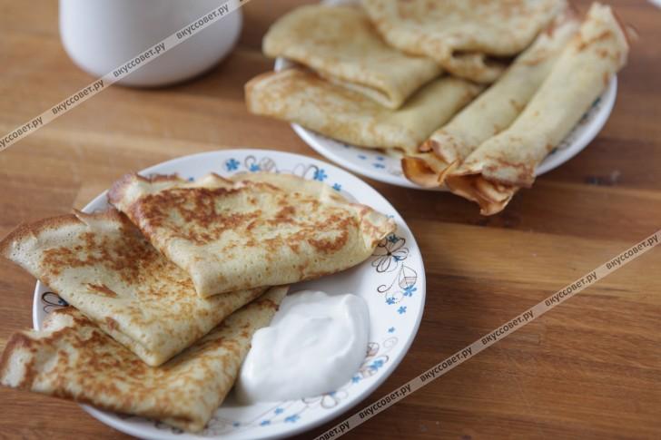 Блины на молоке рецепт пошаговый рецепт с фото
