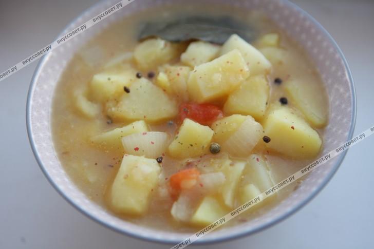 Картофельное рагу пошаговый рецепт с фото