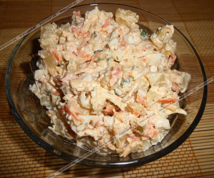 салат сырный рецепт пошаговый