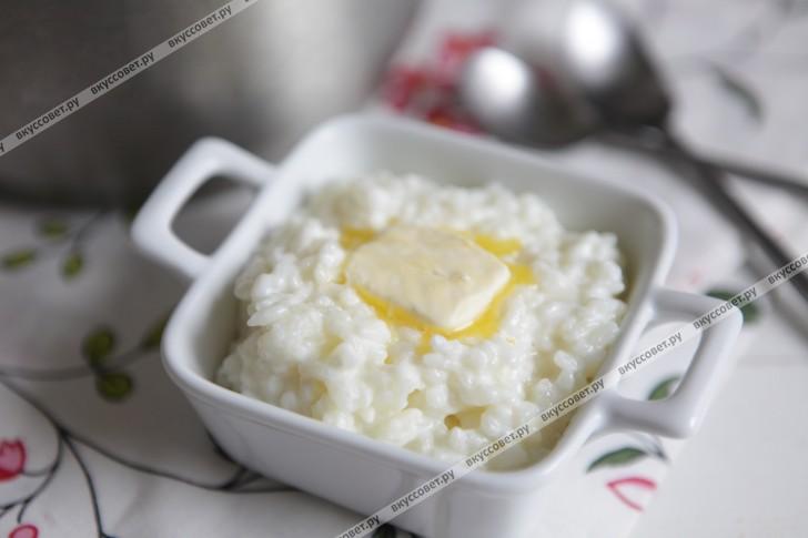 рецепт каши молочной рисовой с фото