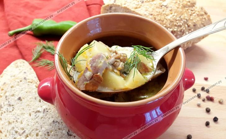 Мясо с грибами в горшочках пошаговый рецепт с фото