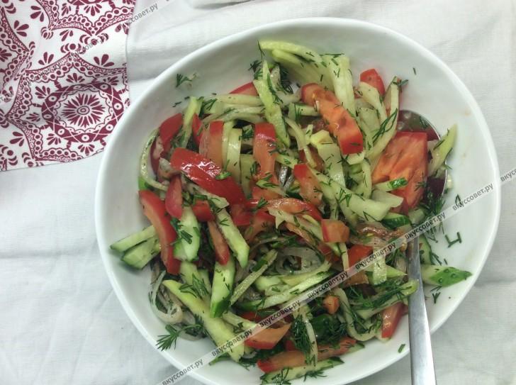классический овощной салат рецепт с фото