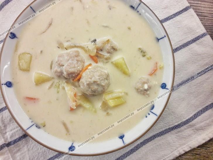 Сырный суп с фрикадельками пошаговый рецепт с фото