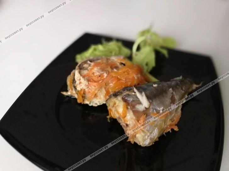 Скумбрия в банке пошаговый рецепт с фото