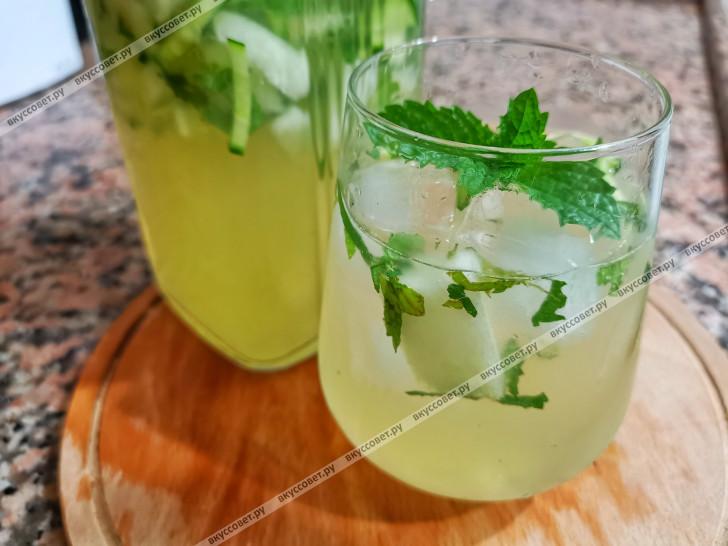 Лимонад с дыней пошаговый рецепт с фото