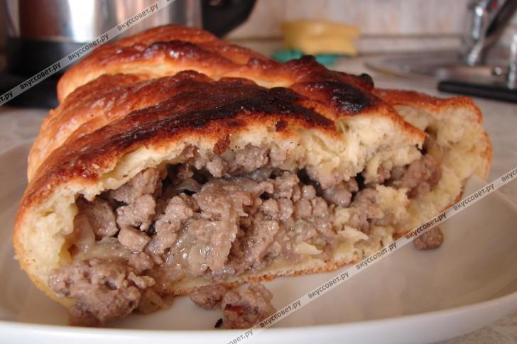 Кулебяка с мясом пошаговый рецепт с фото