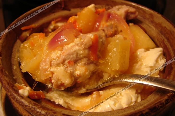 Жаркое в горшочке пошаговый рецепт с фото