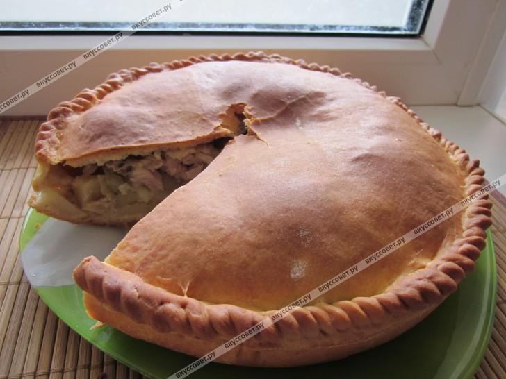Курник из курицы с картофелем пошаговый рецепт с фото