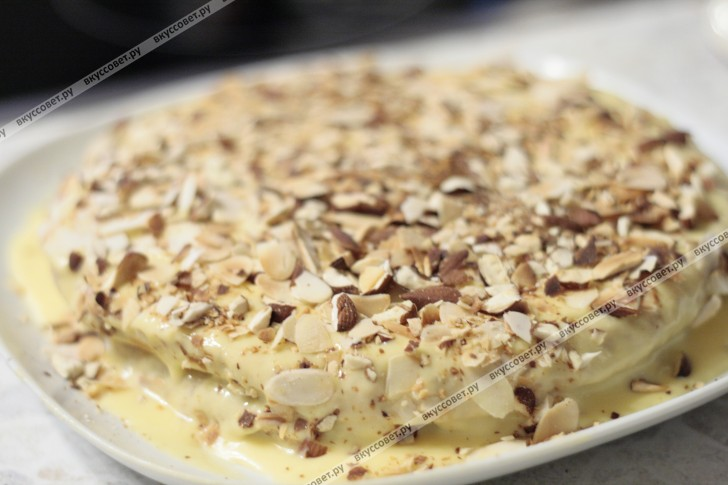 Шведский миндальный торт пошаговый рецепт с фото