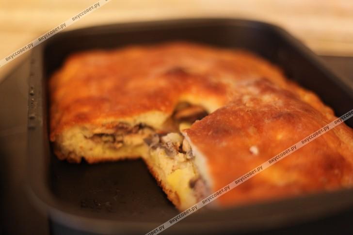 Пирог с рыбой и картошкой пошаговый рецепт с фото