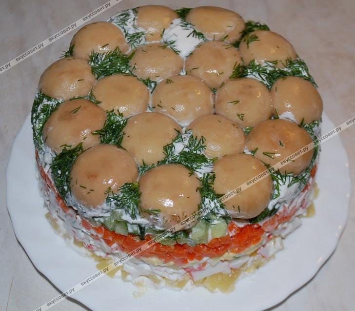 Салат Грибная поляна пошаговый рецепт с фото