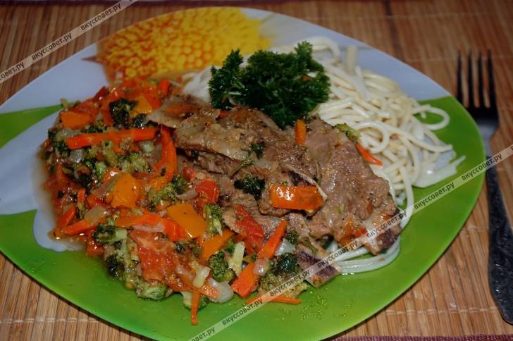 Свиные ребрышки с овощами пошаговый рецепт с фото