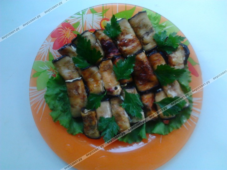 рулет из баклажанов с сыром рецепт с фото
