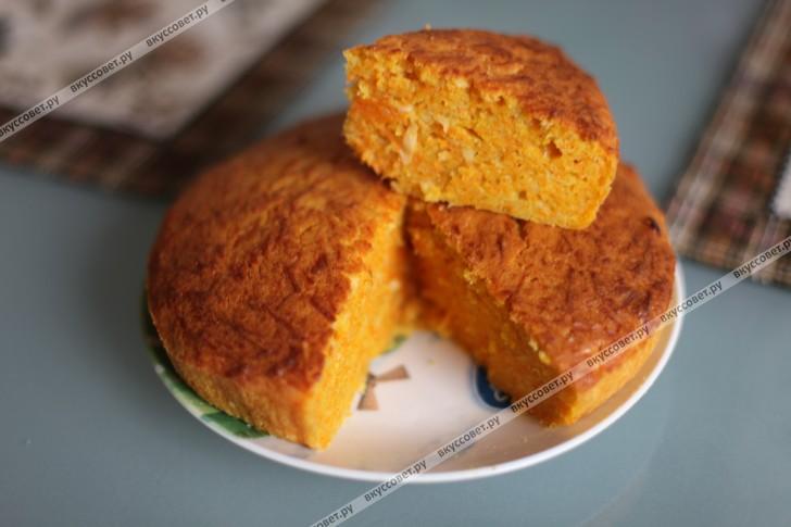 тыквенный пирог в мультиварке рецепт с фото пошагово