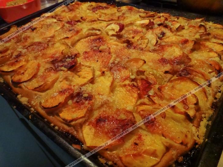 Яблочный пирог на кефире по бабушкиному рецепту пошаговый ...: https://www.vkussovet.ru/recept/yablochnyy-pirog-na-kefire-p/