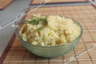 Сырное картофельное пюре готово, приятного аппетита