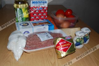 Ингредиенты к рецепту ЛАЗАНЬЯ