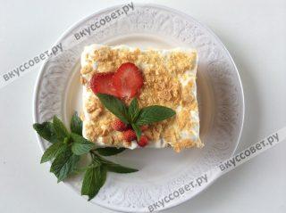 Изумительно вкусный десерт готов, приятного аппетита вам и вашим близким