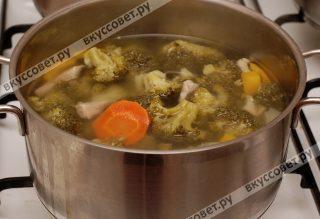 Овощи мягкие, суп готов