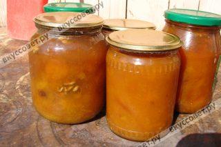варенье из желтой сливы с орехами