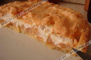 рецепт яблочного пирога с безе