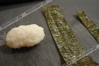 Дошла очередь до нигири суши с угрем