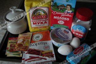 Ингредиенты к рецепту CINNABON (СИННАБОН)