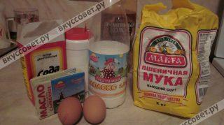 Ингредиенты к рецепту БЛИНЫ НА МОЛОКЕ ОБЫКНОВЕННЫЕ ТОНКИЕ