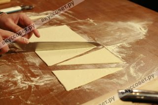 Разрезаем на треугольники (как на фото)