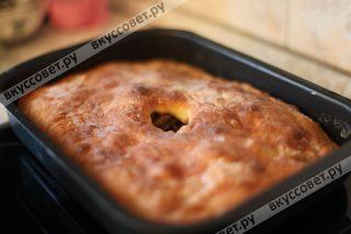 Пирог получается очень вкусным и ароматным, сьедается за один присест