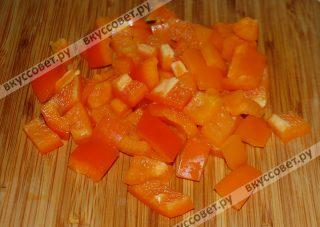 Болгарский перец кубиками